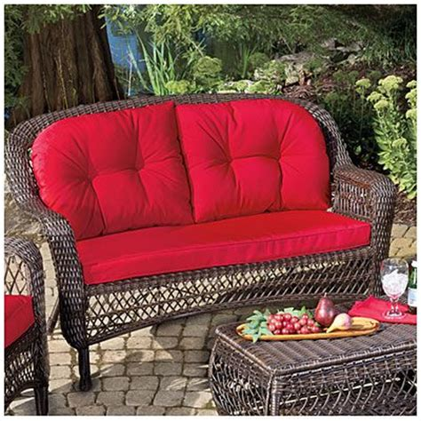 Wilson And Fisher Log Chair by Wilson Fisher 174 Charleston Resin Wicker Cushioned Sofa