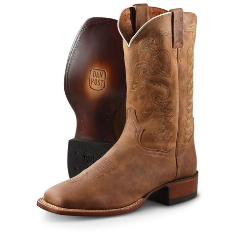 s western boots s dan post boots 174 weatherford pull on western boots