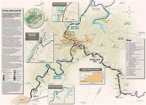 creek state park trail map rail trail maps mon river trails conservacy