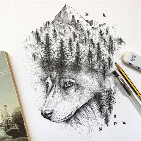 animal tattoo pen pen ink animal illustrations by italian artist alfred