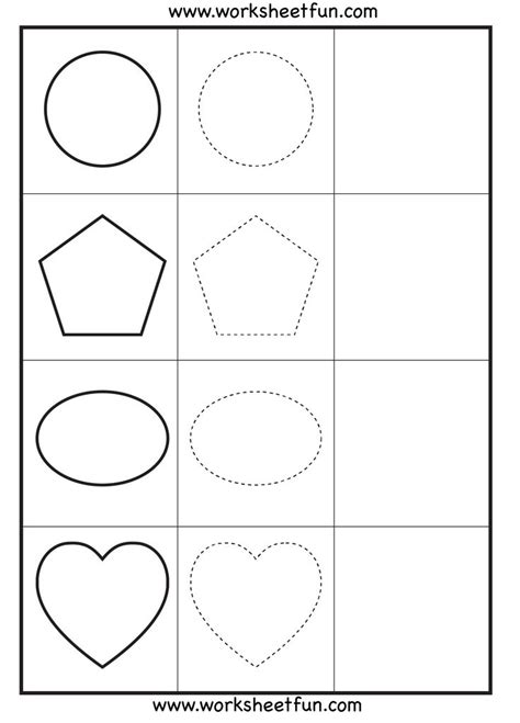 printable shapes for tracing shapes tracing 3 worksheets printable worksheets