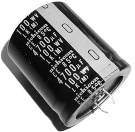 nichicon capacitor codes 4700uf 100v radial snap mount electrolytic capacitor nichicon west florida components