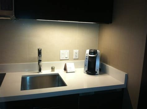 coffee maker near kitchen sink picture of vdara hotel