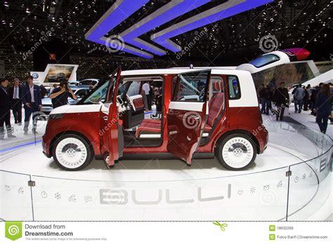 electric volkswagen van volkswagen bulli electric minivan concept editorial stock