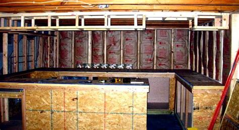 How To Insulate A Basement by Basement Bar Planning Easy Home Bar Plans
