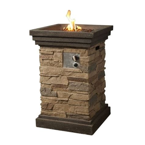 gas pit cover peaktop slate rock gas pit with cover hf29402a