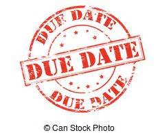 Due Date Lookup Due Date Rubber St With Text Due Date Inside Vector