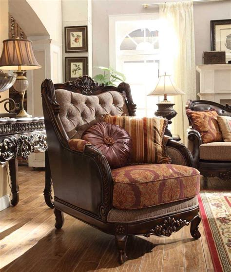 homey design hd 3630 traditional upholstered living room