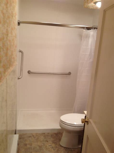 remove bathtub install shower bath remove tub install ada shower traditional bathroom other metro by lowe s