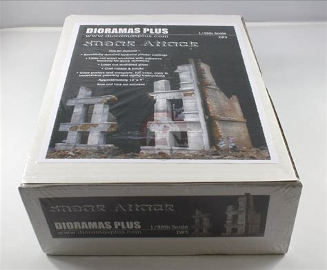 Dp New Woc Diorama dioramas plus 1 35 quot sneak attack quot german building w destroyed middle dp3 ebay