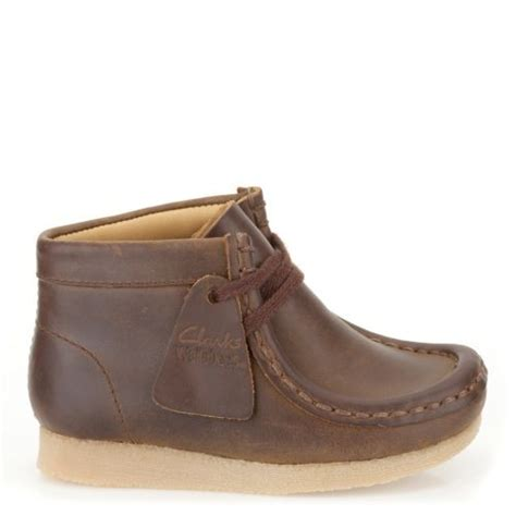boys wallabee boot brown clarks originals