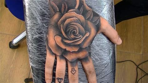 what to add to a rose tattoo time lapse