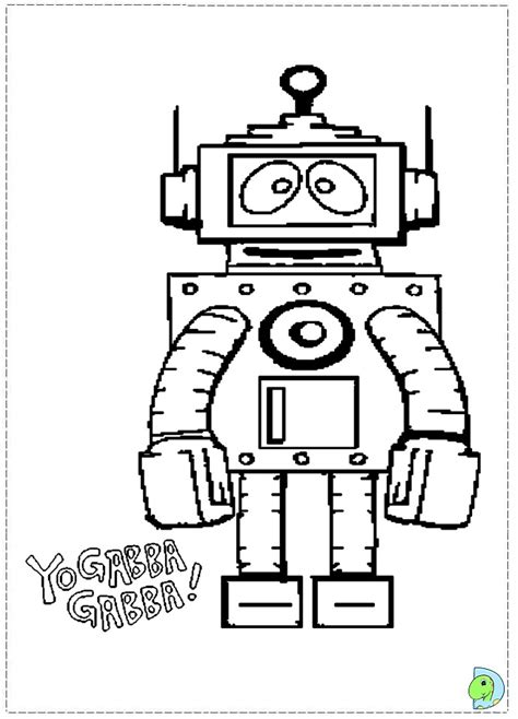 free printable coloring pages yo gabba gabba yo gabba gabba brobee coloring pages