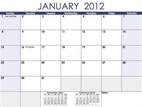 printable monthly calendars templates 2012 calendar