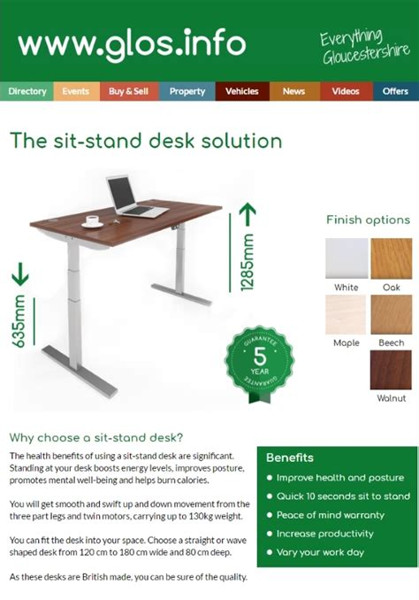 used sit stand desk for sale sit stand desks range for sale with