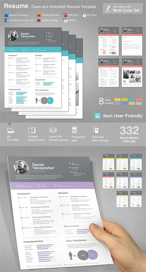 Graphic Resume Templates by 15 Creative Infographic Resume Templates