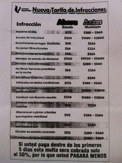 multas de transito estado mexico nueva tarifa de infracciones en veracruz puerto