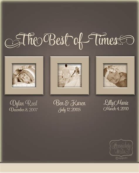 family portrait wall decor the best of times vinyl wall quote with personalized