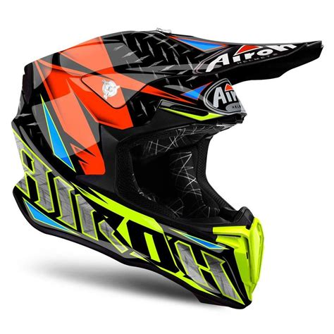 orange motocross helmet airoh twist iron orange motocross mx helmet matt