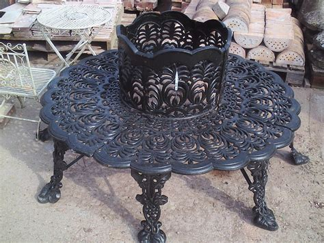 cast iron tree bench circular cast iron tree bench