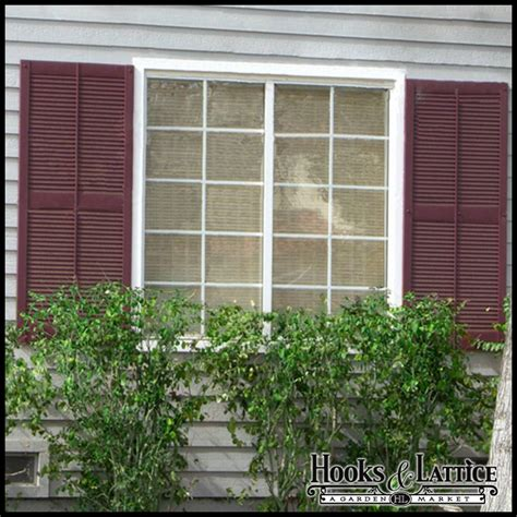 vinyl louvered shutters exterior decorative hooks and