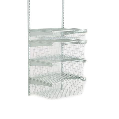 schubladen bausatz closetmaid shelftrack 4 drawer kit in white 2815 the