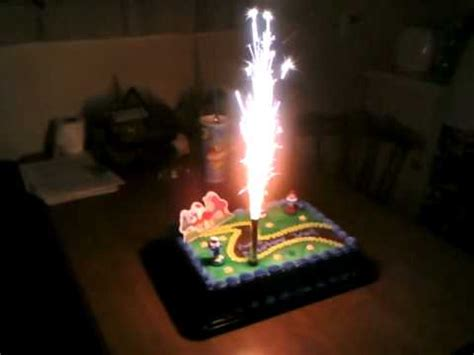 smurf cake firework candle 11th b day youtube