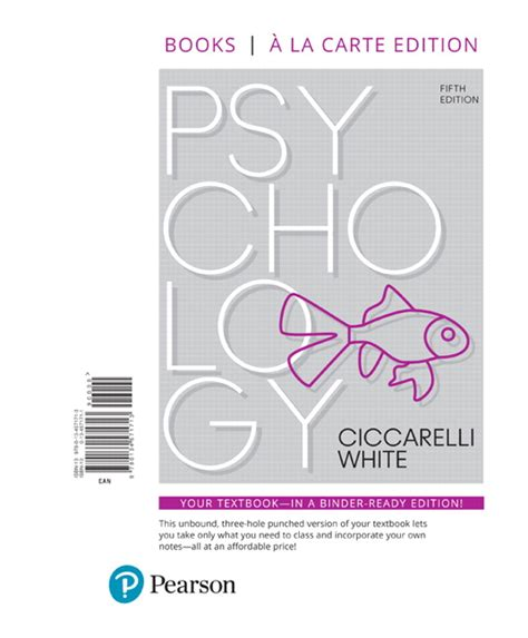 lectures on the psychology of fifth edition books ciccarelli white psychology