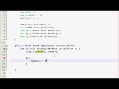 tutorial c gui java gui tutorial 14 simple calculator part 2 of 4