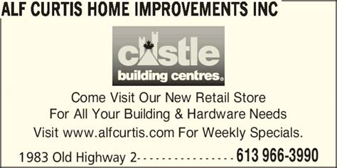 alf curtis home improvements inc belleville on 1983