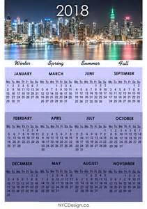 Calendar 2018 A4 Printable New York Web Design Studio New York Ny 2018 Calendar