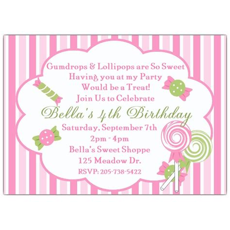 Dy Sweet Shop  Ee  Birthday Ee   Invitations Paperstyle