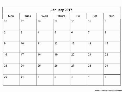 Printable Calendar October 2018 2017 Printable Calendar Word Weekly Calendar Template