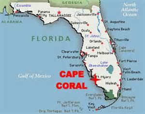 cape coral map florida travel info