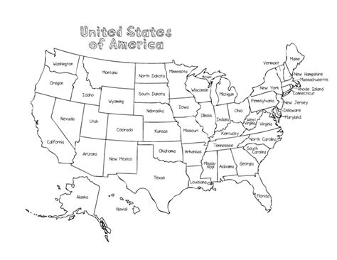 usa map coloring page coloring page of united states murderthestout