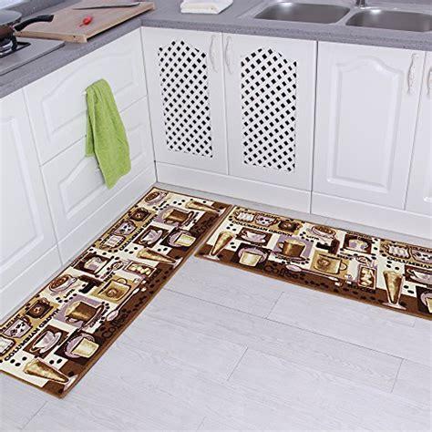 kitchen rugs non slip backing 54 carvapet 2 non slip kitchen mat rubber backing doormat runner rug set coffee