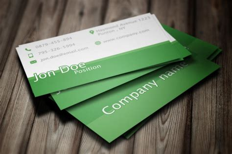 green business card templates psd 50 best free psd business card templates for commercial use