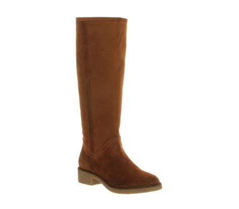 womens office achilles pull on suede boots ebay