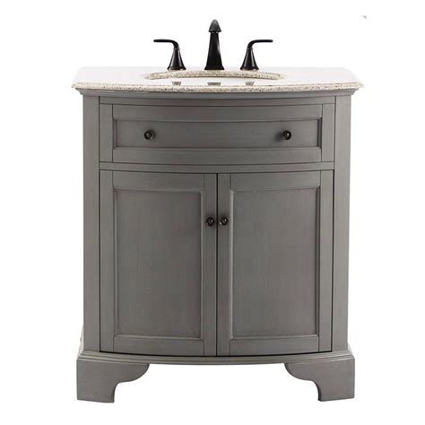 home depot granite bathroom vanity home decorators collection hamilton 31 in vanity in grey