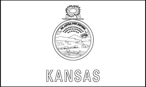 Kansas State Flag Coloring Page kansas state flag