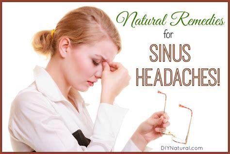 simple home remedies for sinus headache