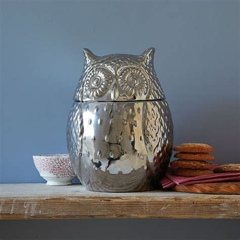West Elm Owl L by Metallic Owl Cookie Jar West Elm