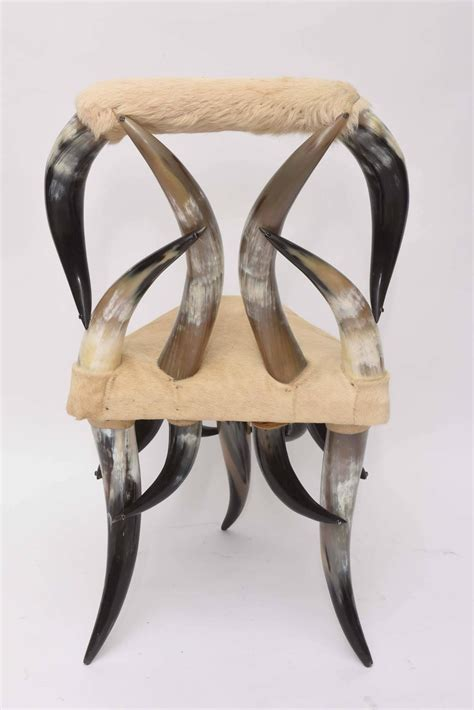 horn chair vintage steer horn chair for sale at 1stdibs