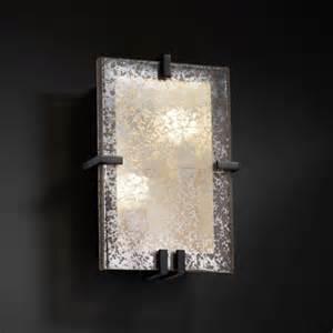 Vanity Lights Clip On Fusion Rectangletwo Light Fluorescent Matte Black