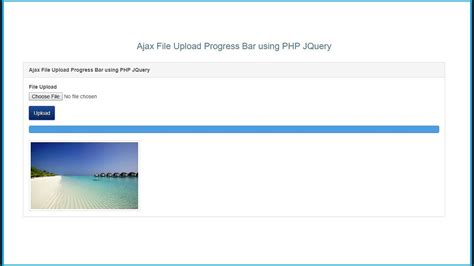 jquery ajax file upload  progress bar  php youtube