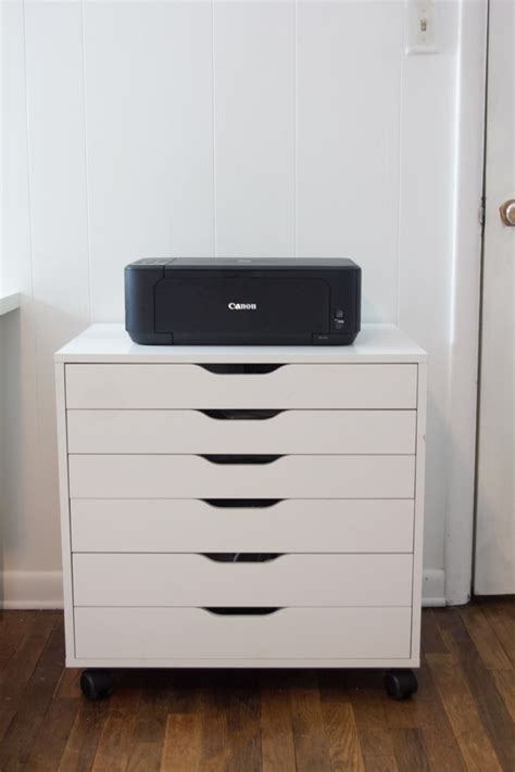 desk with drawers and printer shelf printer stand ikea a smart solution to organize your