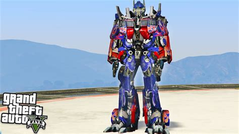 mod gta 5 transformers transformers optimus prime gta 5 mods youtube
