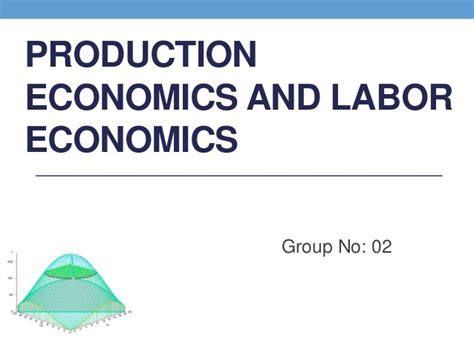 Labour Economics production economics and labor economics