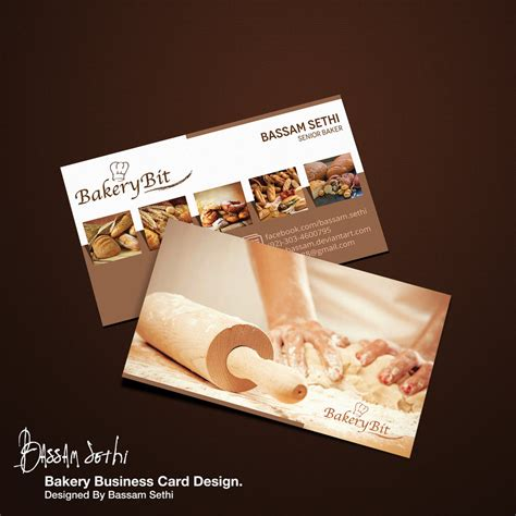 business card template for a bakery bakery business card sle by cap bassam on deviantart