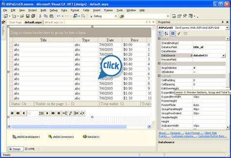 grid layout navbar templates asp net ajax navigation bar control demo